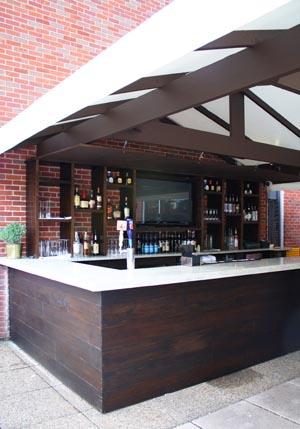 Restaurant patio bar